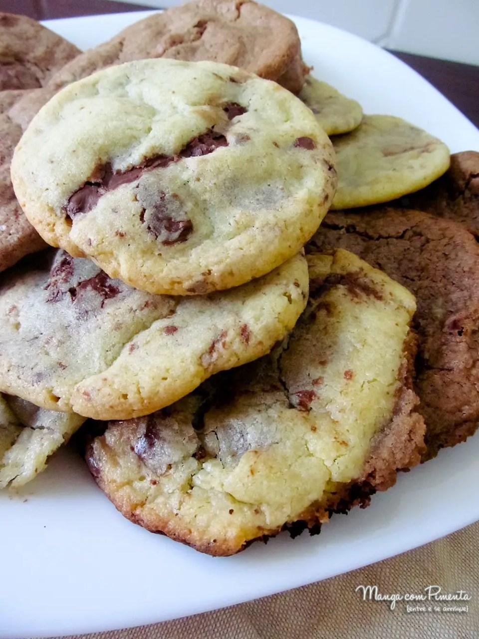Cookies com Creme de Avelã - Uma delícia para quem ama chocolate!