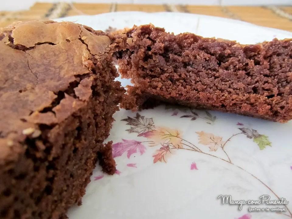 Brownie de chocolate sem nozes