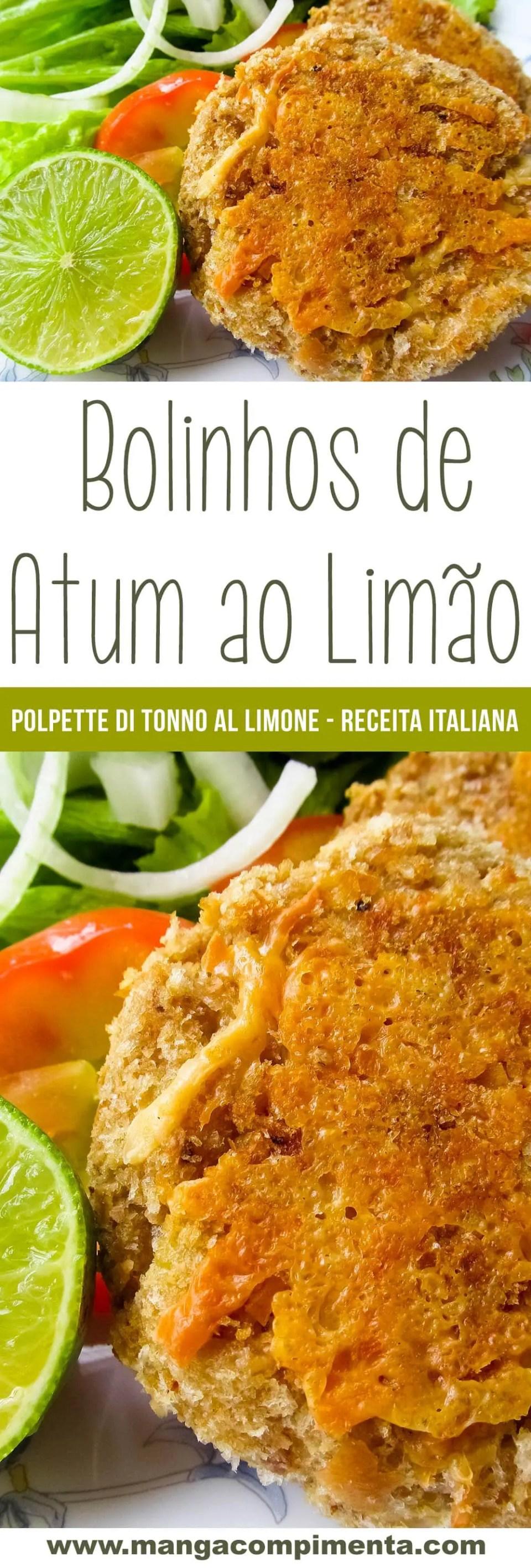 Bolinhos de Atum ao Limão | Polpette di Tonno al Limone – Receita Italiana
