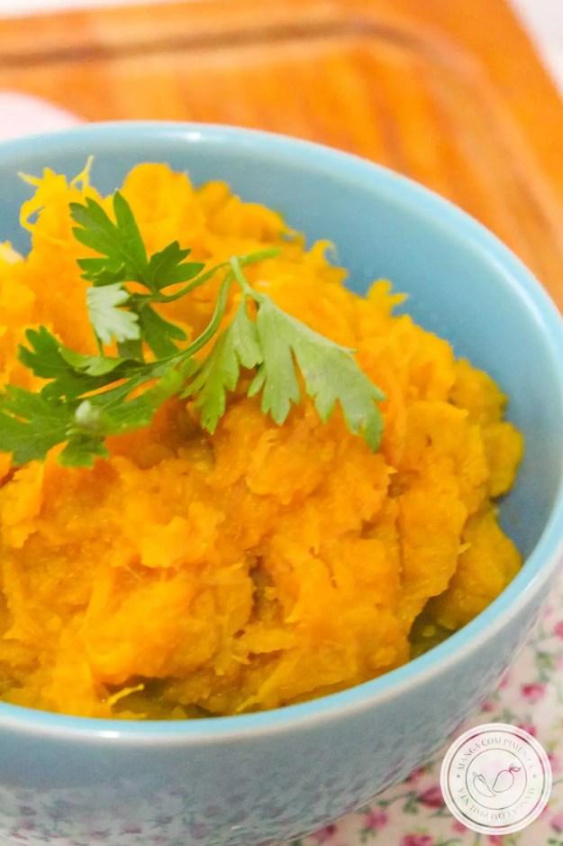 Receita de Quibebe de Abóbora - prato simples e delicioso para o almoço da semana.