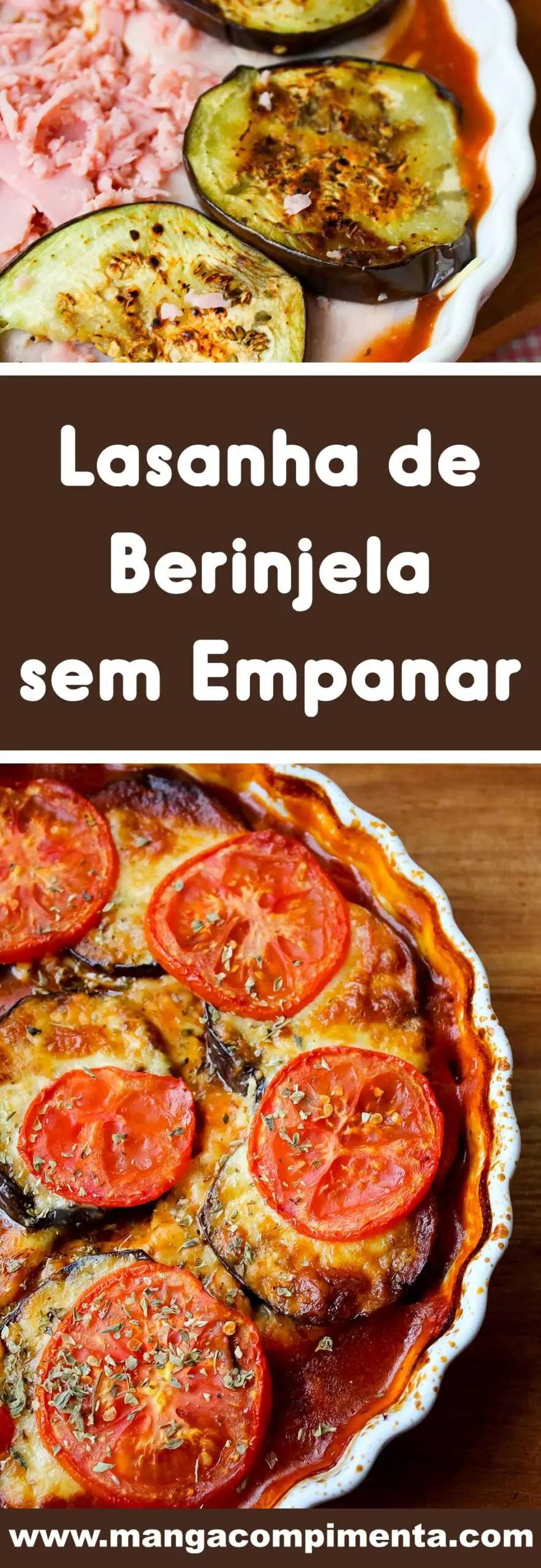 Receita de Lasanha de Berinjela sem Empanar - prepare para servir no almoço de Domingo.