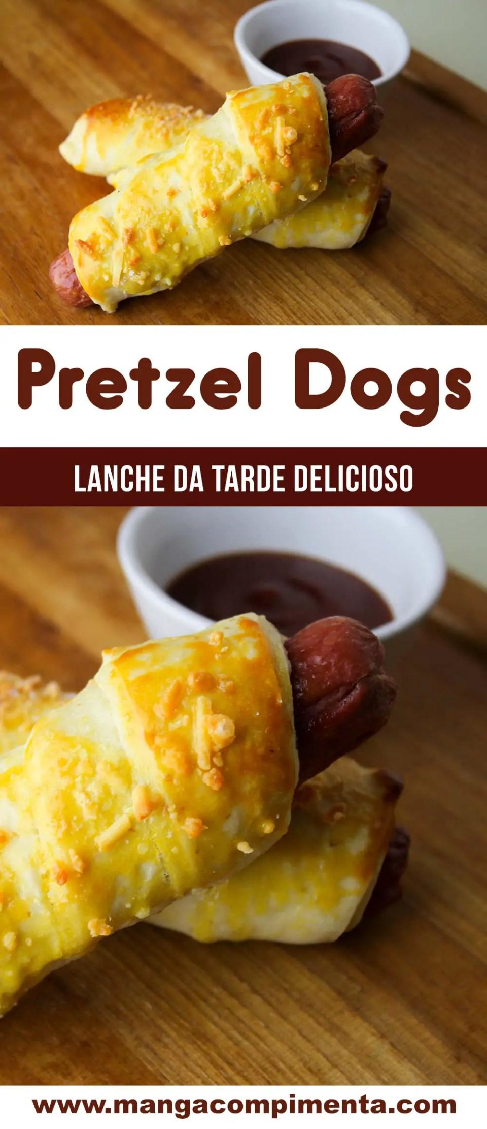 Pretzel Dogs - Um petisco delicioso para o lanche da tarde!