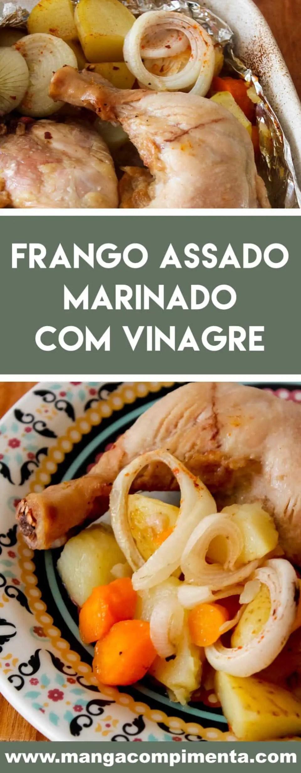 Receita de Coxas e Sobrecoxas de Frango Marinado com Vinagre, Assados com Legumes - para o almoço de domingo!