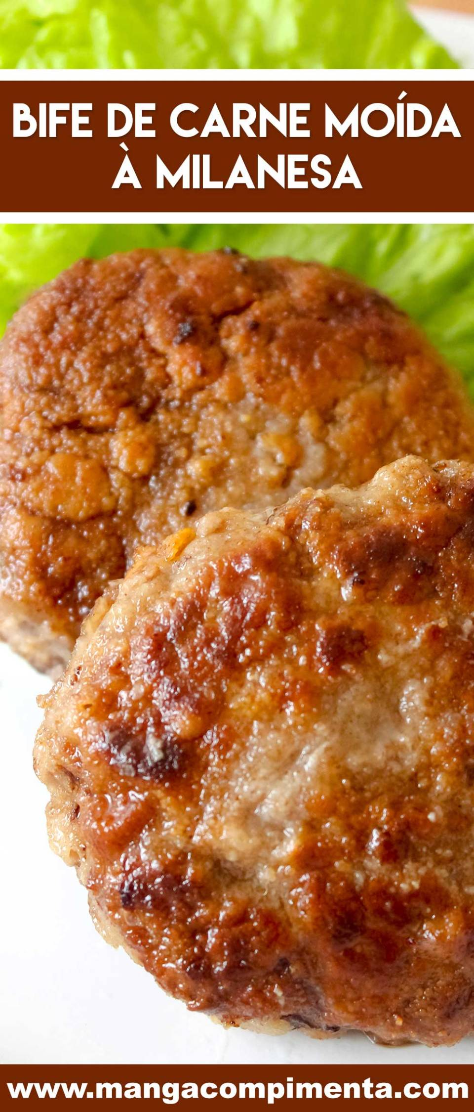 Receita de Bife de Carne Moída à Milanesa - um prato gostoso para o almoço ou jantar da semana!