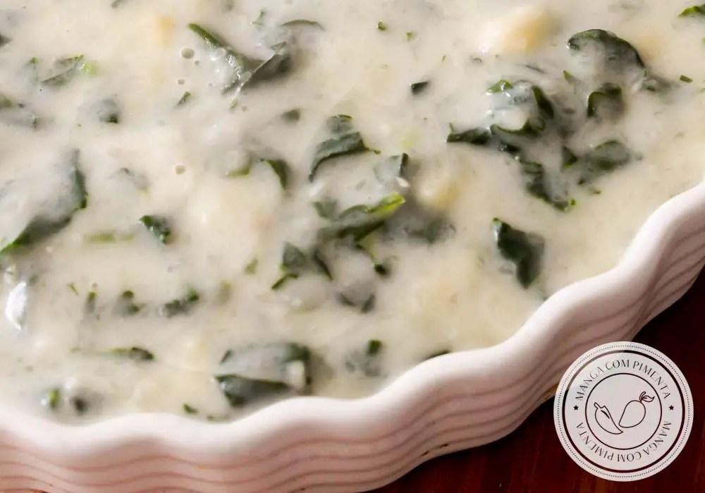 Frango com Creme de Espinafre com Batata - prato delicioso para os dias frios!