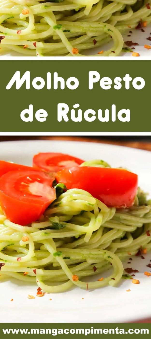 Receita de Molho Pesto de Rúcula - para deixar aquele macarrão do final de semana mais gostoso.