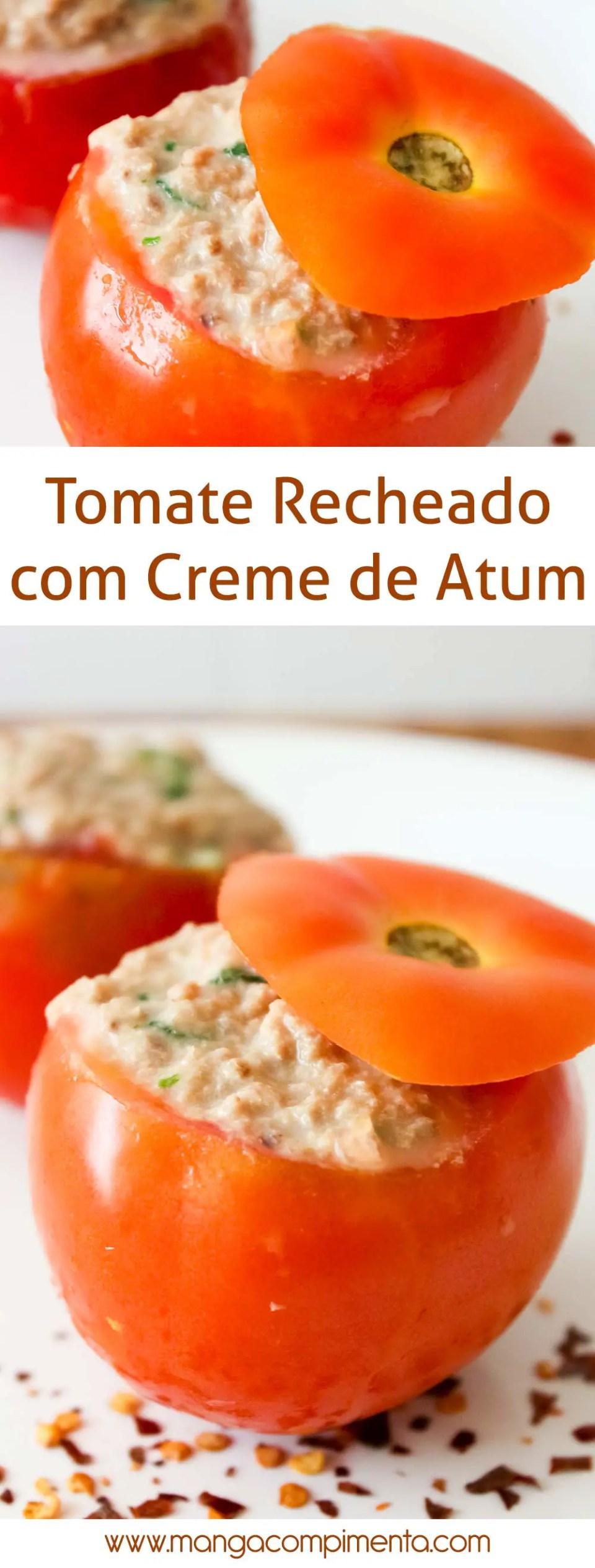 Tomate Recheado com Creme de Atum - para um almoço leve na semana!