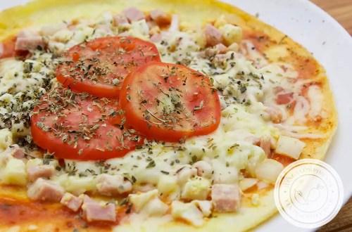 Receita de Pizza Omelete ou Omelete Pizza - prepare um lanche delicioso para um almoço rápido.