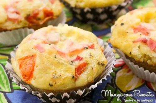 Receita de Muffin de Panqueca - Salgada
