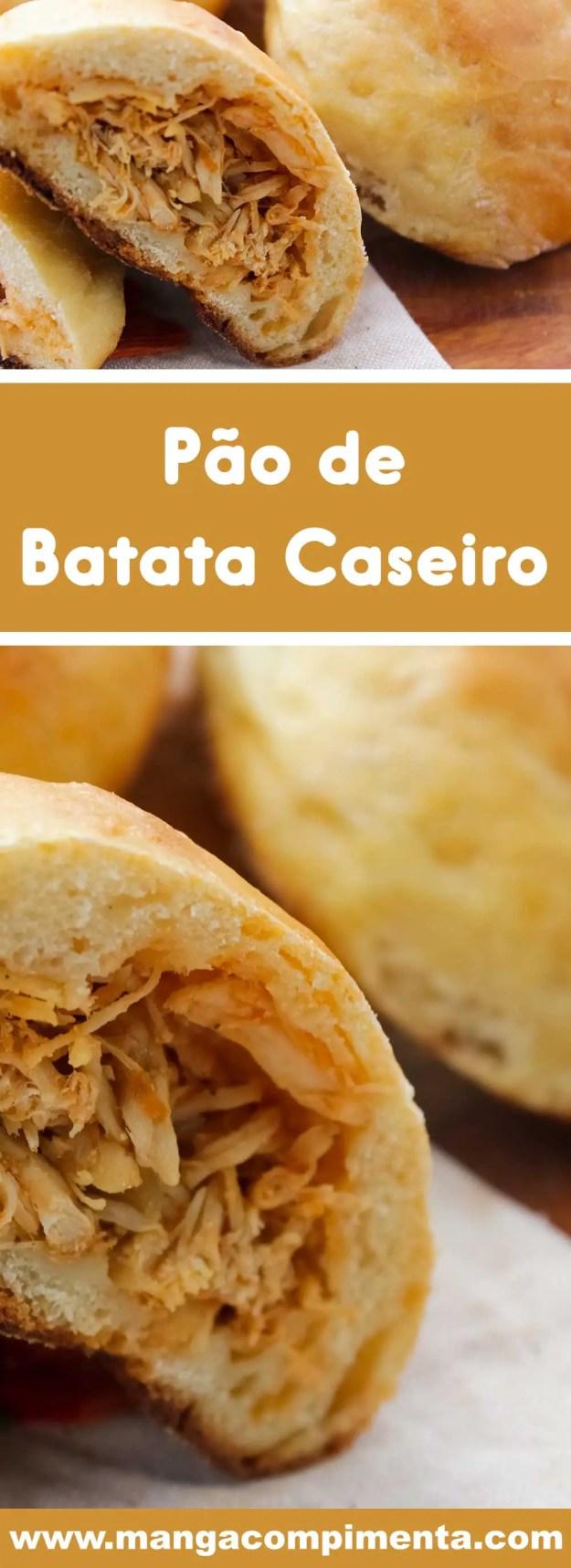 Receita de Pão de Batata Recheado com Frango - Youtube - um lanche delicioso para o final de semana com a família.