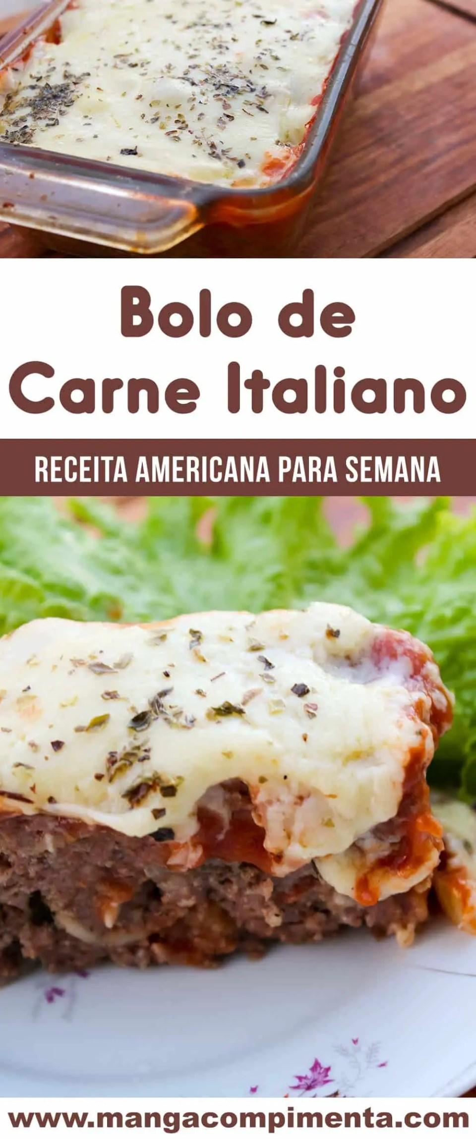 Bolo de Carne Italiano - prepare essa delícia para o almoço dessa semana!