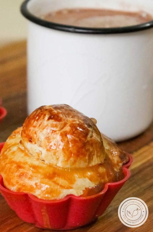 Receita de Pão de Brioche Salgado - uma delícia para o chá da tarde ou para o café da manhã.