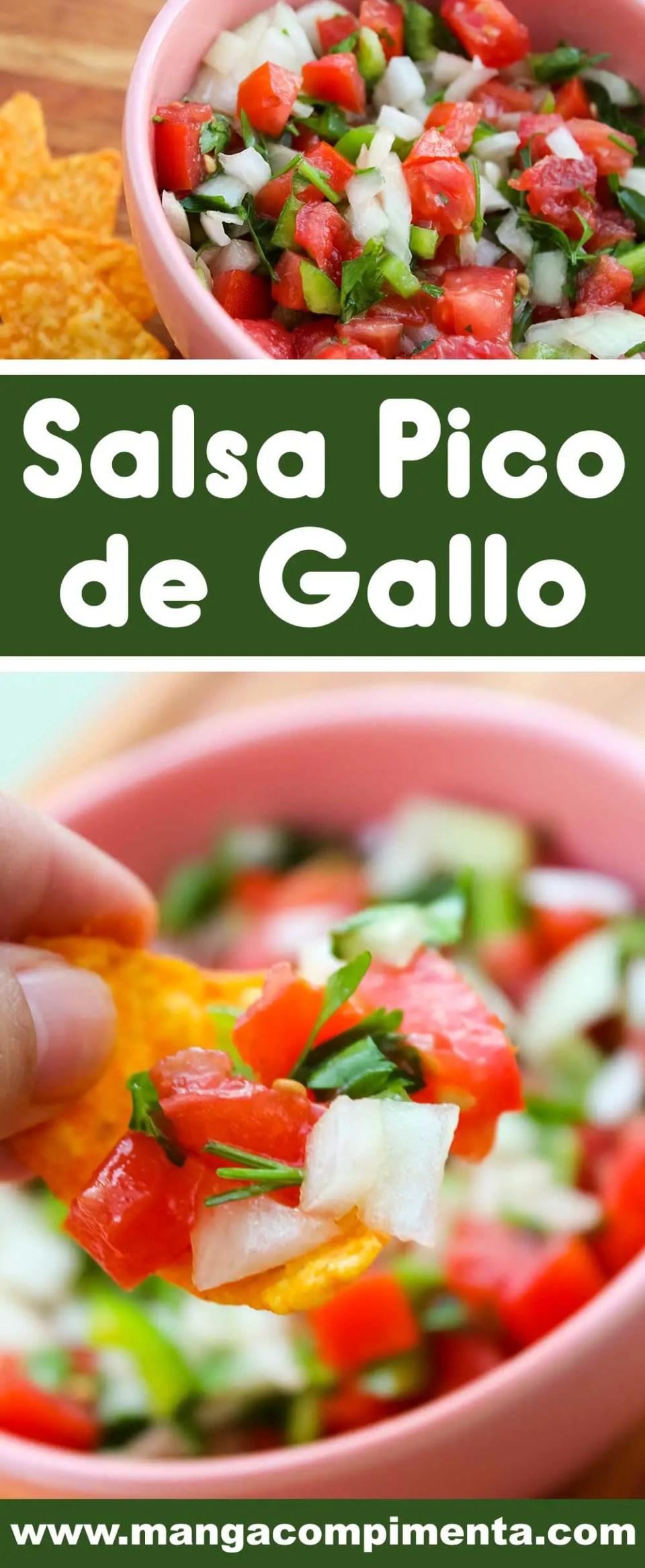 Receita de Salsa Pico de Gallo - um prato mexicano para lanchar e petiscar com os amigos.