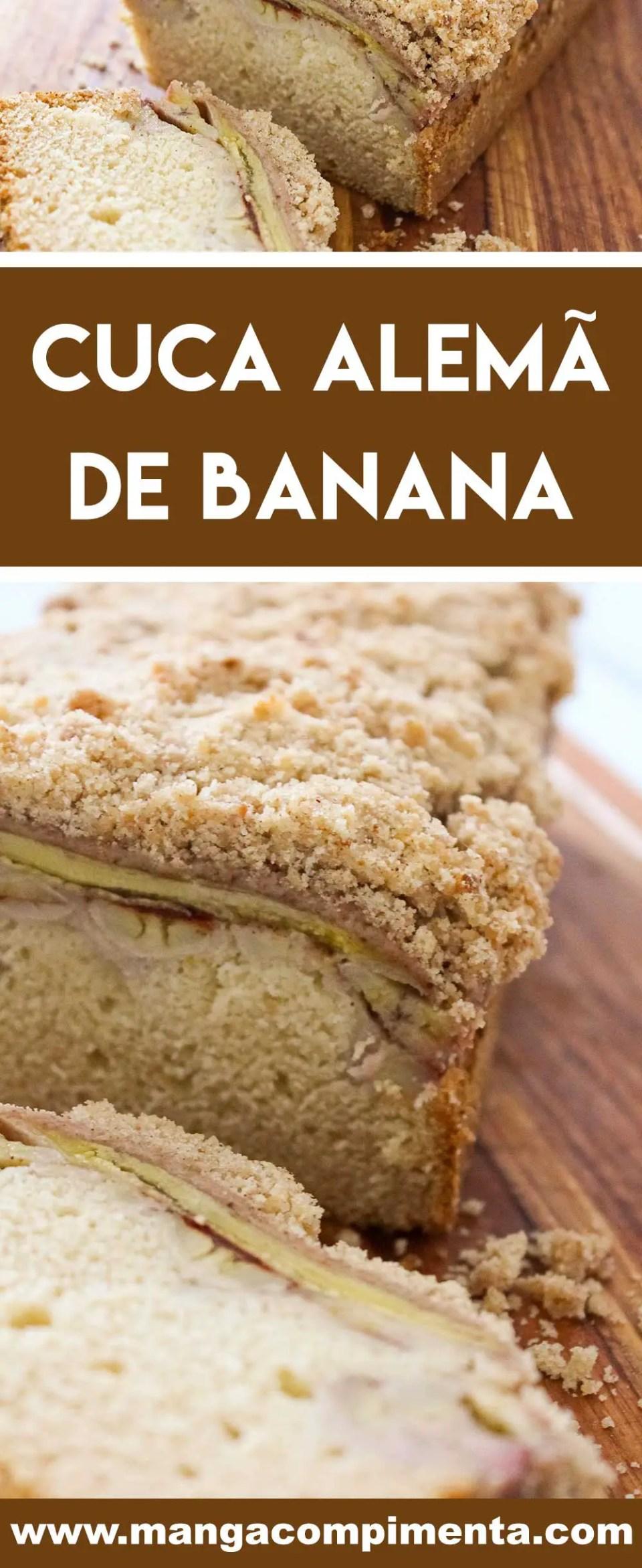 Receita de Cuca Alemã de Banana Típica do Sul - prepare para o café da manhã ou para o lanche da tarde.