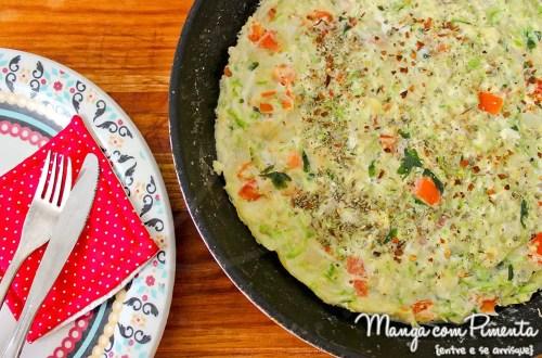 Omelete de Abobrinha com Tomate {Receitas do Bem}