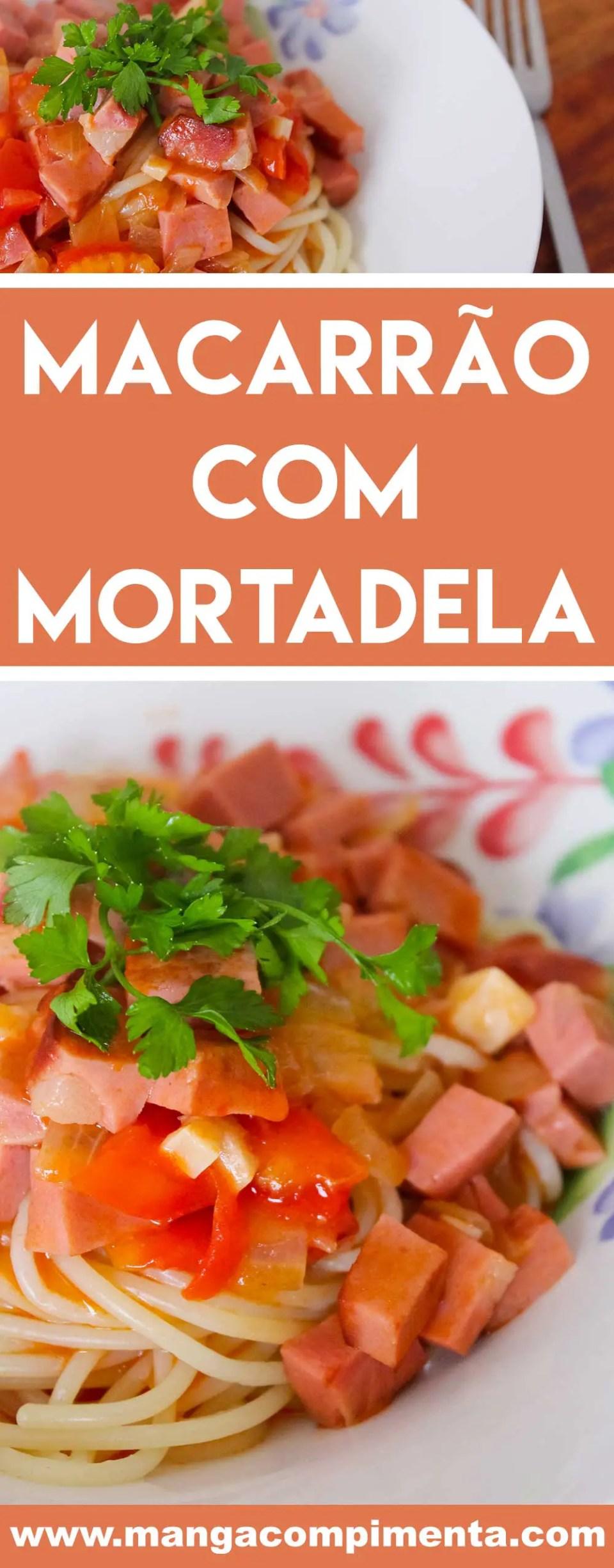 Receita de Macarrão com Mortadela - para um almoço express na semana!
