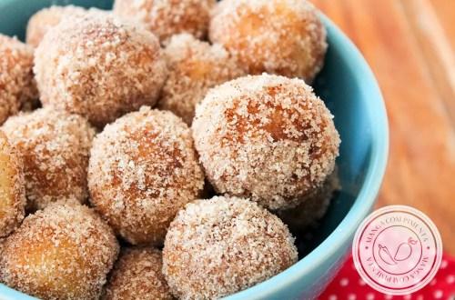 Receita de Churro Poppers - um lanche delicioso para curtir com a família.