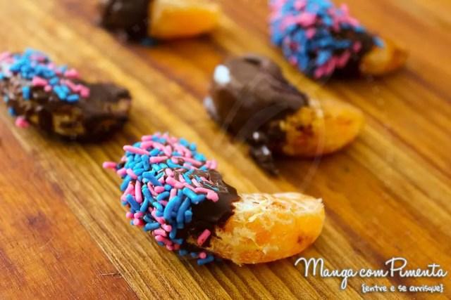 Gomas de Mexerica com Chocolate