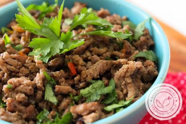 Receita de Carne Moída Refogada para o dia a dia - prepare o arroz e feijão para acompanhar essa delícia.