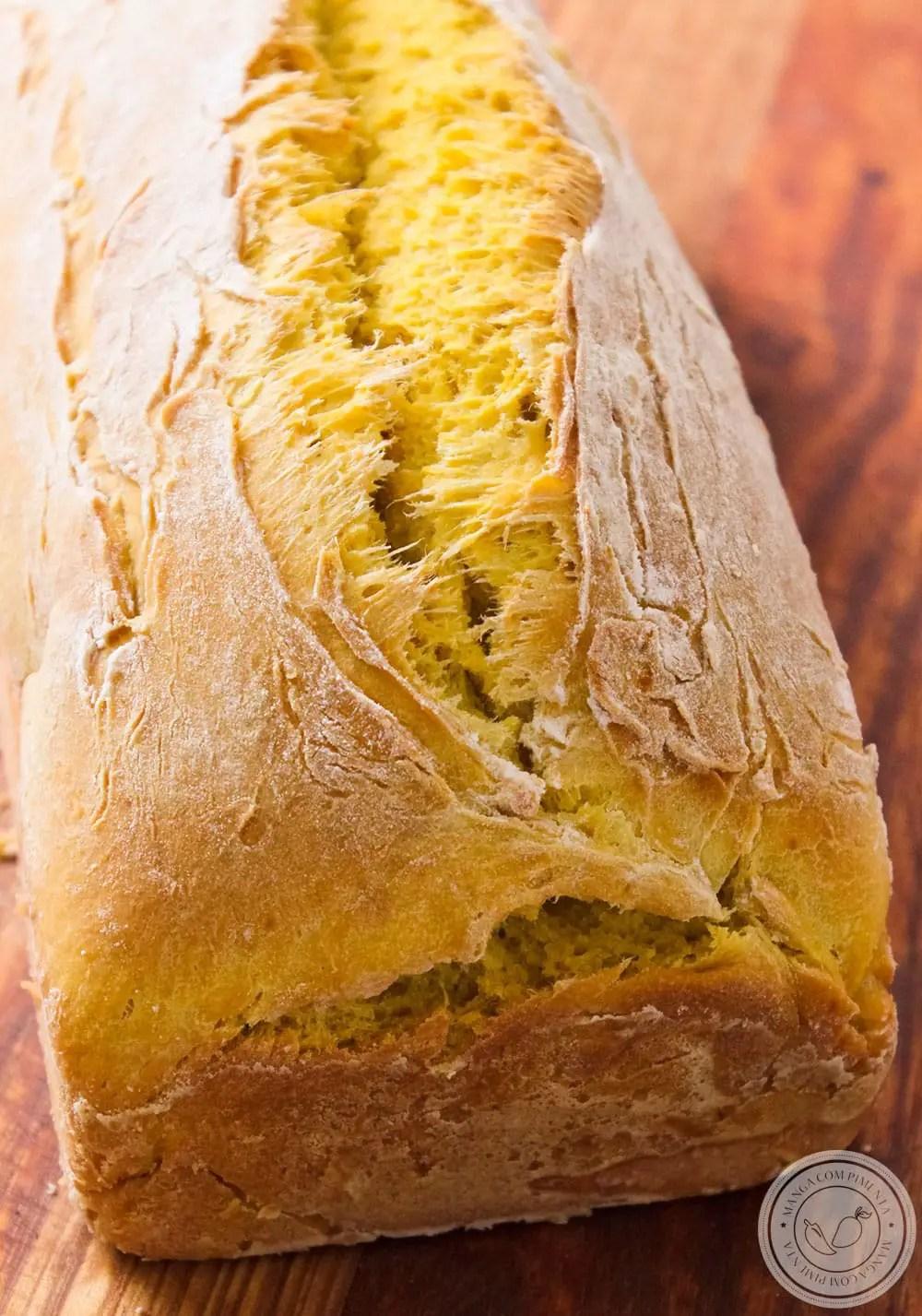Pão de Abóbora caseiro bem fofinho e macio