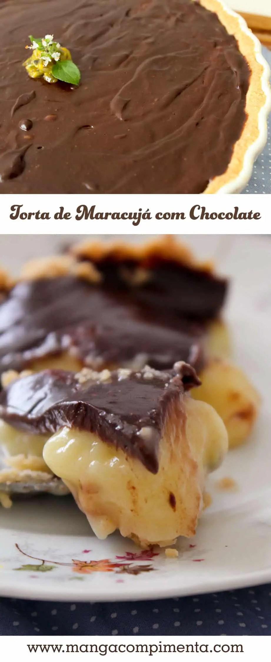 Torta de Maracujá com Chocolate | Natal, Ano Novo, Dia dos Namorados e Datas Comemorativas