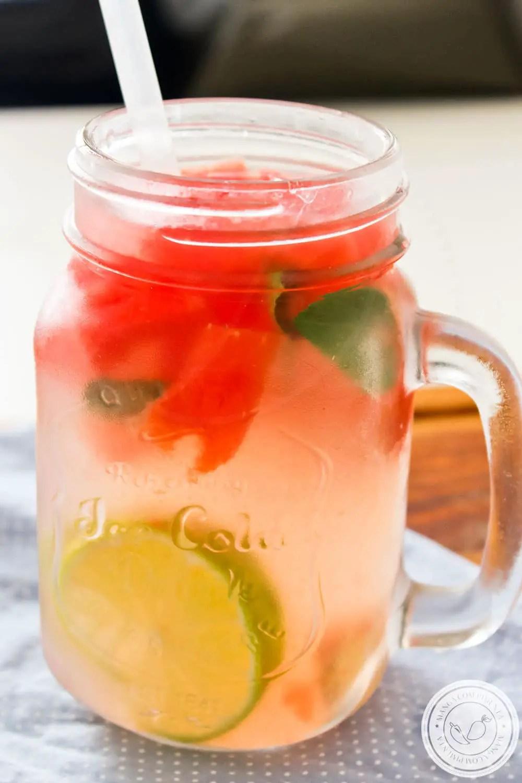 Água Saborizada com Melancia, Gengibre, Manjericão e Limão | Receitas de Verão