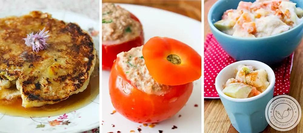 Cinco Receitas de Pratos Leves para começar muito bem a Semana!
