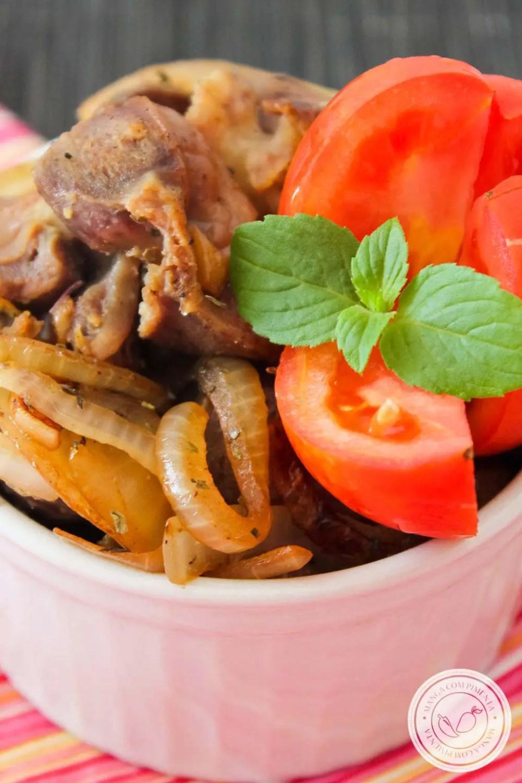 Moela Acebolada de Boteco - prepare esse delicioso petisco em casa!