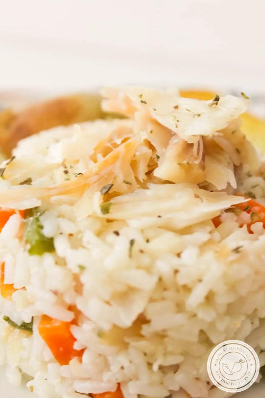 Arroz de Bacalhau Simples - para um almoço caprichado com a família ou em datas comemorativas!