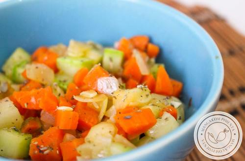 Abobrinha e Cenoura Refogada - um belo refogado de legumes para a semana!