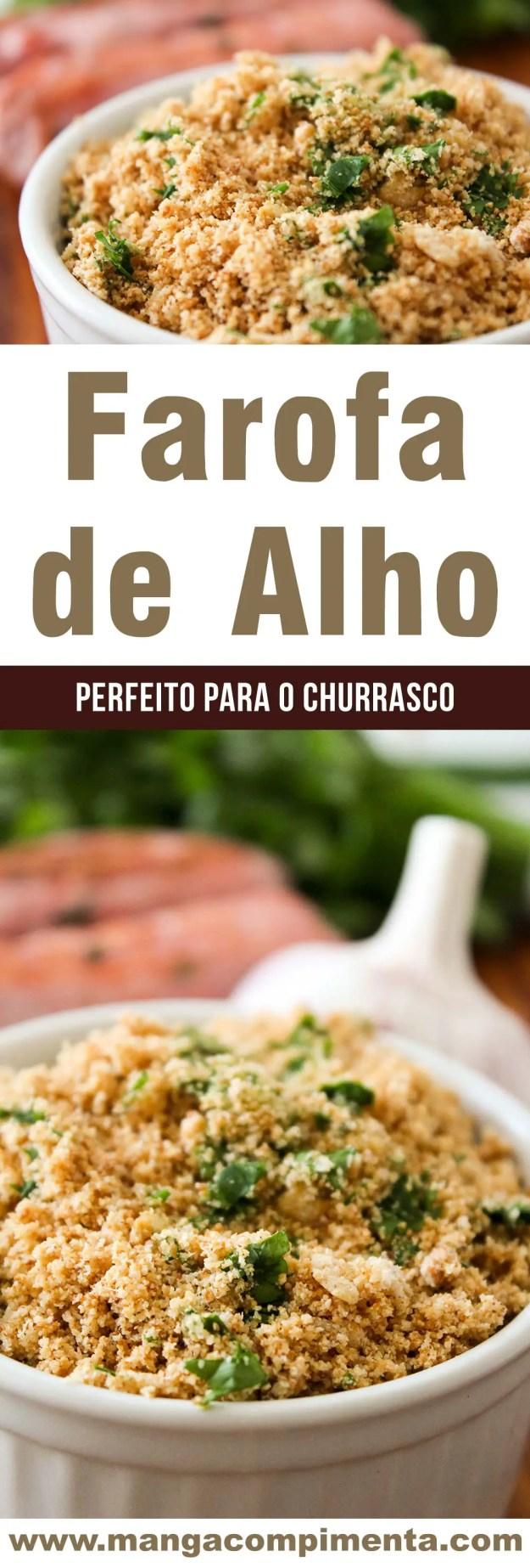 Farofa de Alho - super fácil de fazer, perfeito para o churrasco ou frango assado do final de semana!