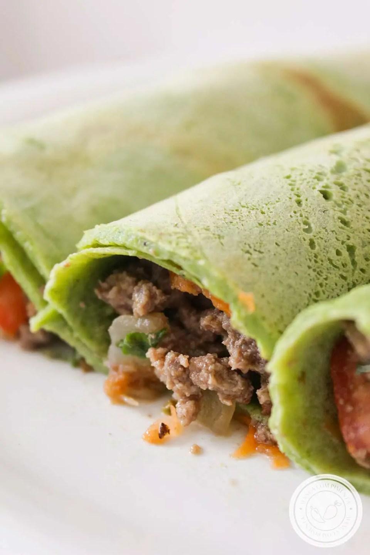 Massa de Panqueca de Espinafre ou Panqueca Verde - dê uma cor linda a sua comida!