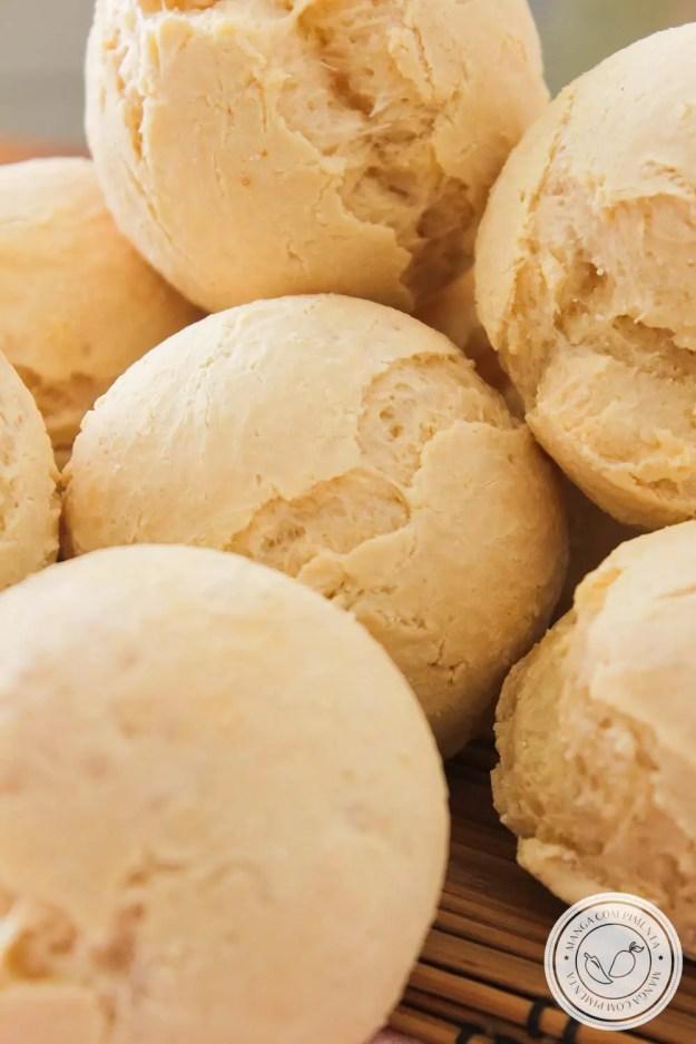 Pão de Mandioca e Polvilho Sem Glúten - Para um lanche delicioso com a família ou para levar na marmita!