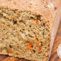 Pão Integral com Aveia e Cenoura | 100% Integral
