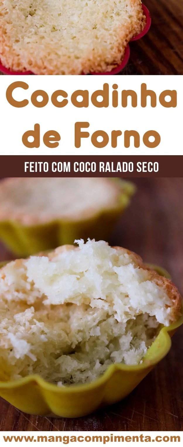 Cocadinha de Forno com Coco Ralado Seco - um docinho caseiro super fácil de fazer e delicioso de comer!