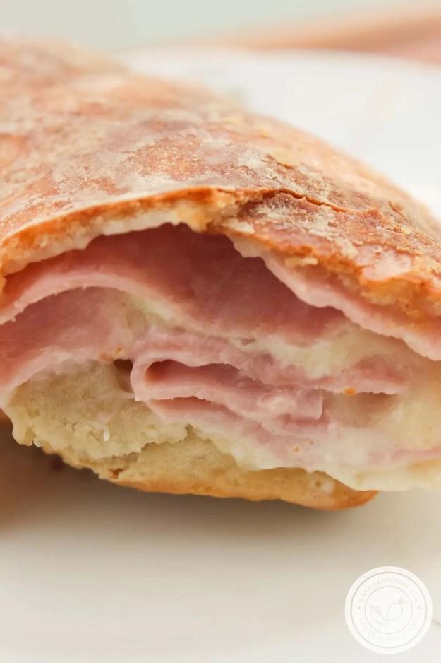 Pizza Rosca Presunto e Queijo - para um lanche caseiro em família no final de semana!