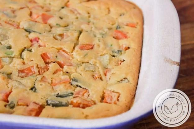 Torta de Legumes de Liquidificador - aprenda a fazer em casa para a segunda-feira sem carne!