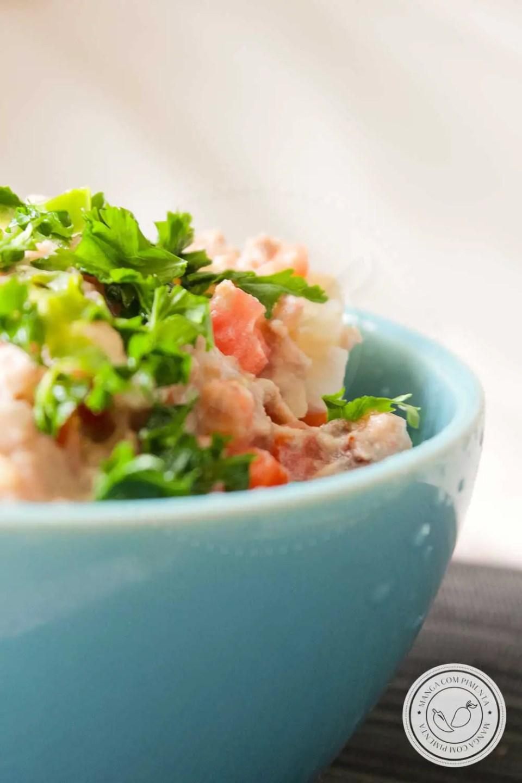 Salada de Atum com Batata e Tomate