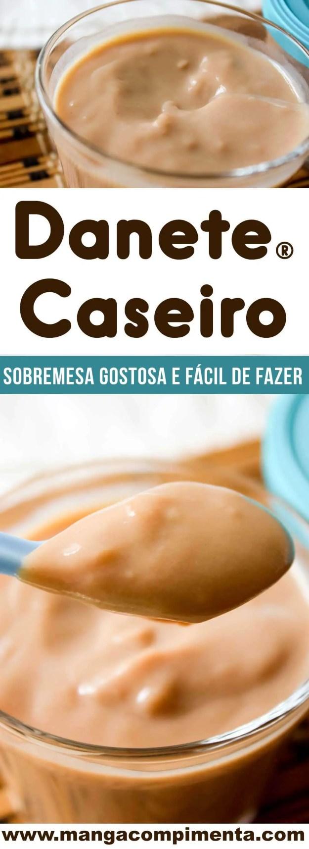 Receita de Danete Caseiro - um doce de chocolate caseiro delicioso para a sobremesa depois do almoço.