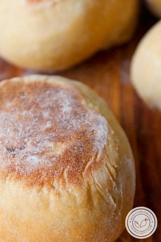 Receita de Muffins Ingleses Caseiros - um pãozinho inglês para o lanche da tarde!