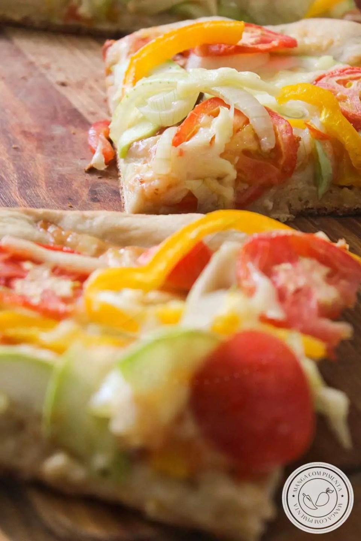 Receita Pizza de Abobrinha com Vegetais e Queijo - para o lanche do final da tarde!