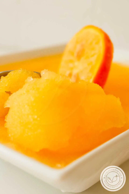 Receita de Sorbet de Laranja - um gelado delicioso para os dias quentes de verão, a criançada vai amar!