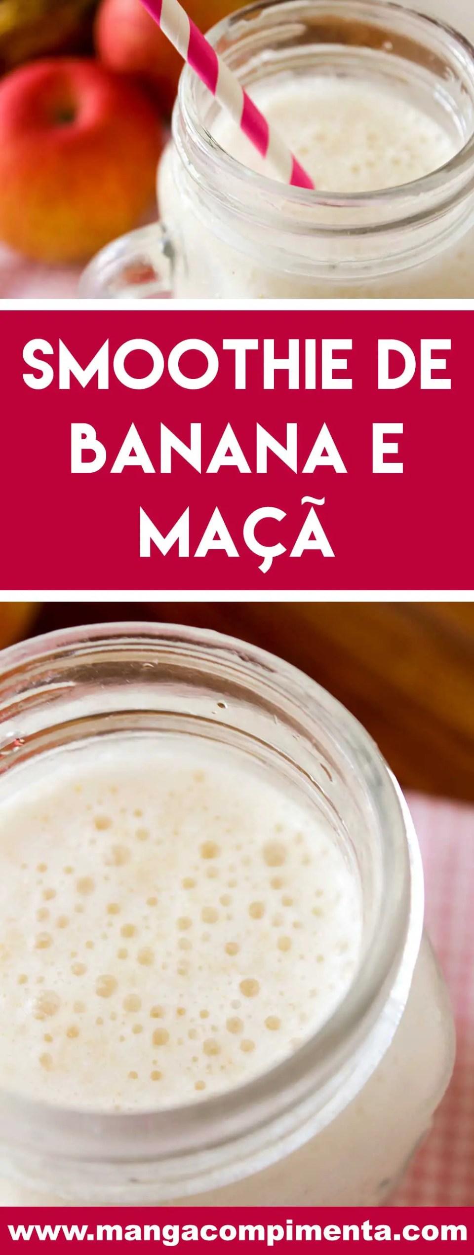 Receita de Smoothie de Banana e Maçã - uma bebida refrescante para o café da manhã nos dias quentes de verão!