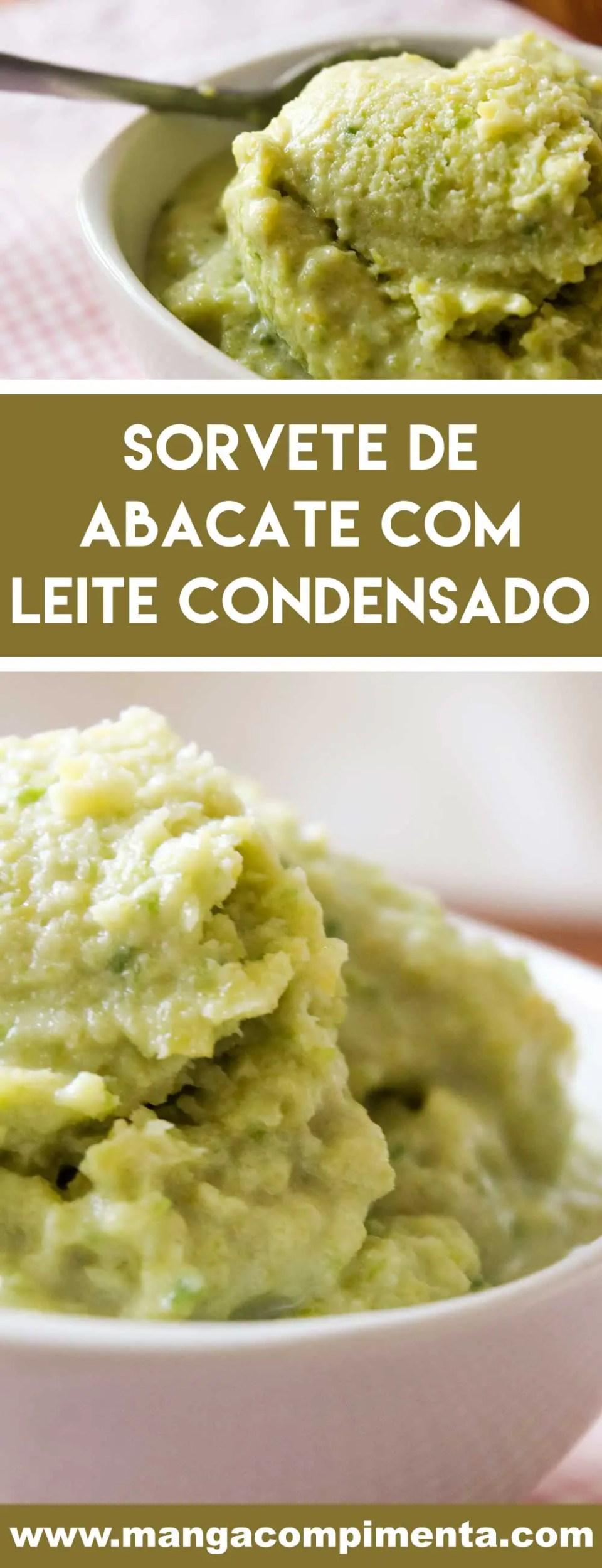 Receita de Sorvete de Abacate com Leite Condensado - uma sobremesa gelada e deliciosa para os dias quentes!