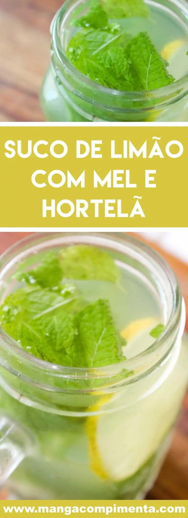 Receita de Suco de Limão com Mel e Hortelã - uma bebida cheia de benefícios para a sua saúde, prepare também nos dias frios!