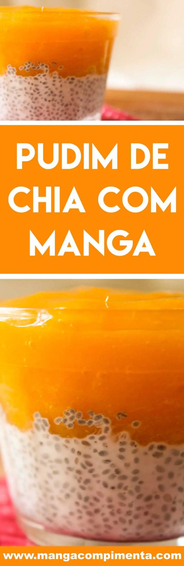 Receita de Pudim de Chia com Manga - uma sobremesa vegana deliciosa para os dias quentes!