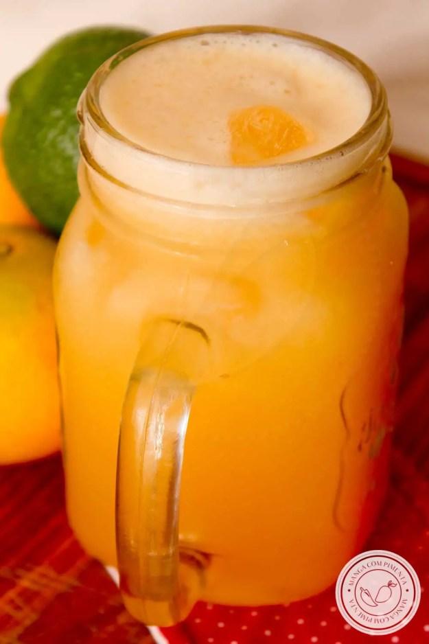 Receita de Suco de Frutas Cítricas - prepare essa bebida saborosa para o lanche da tarde.