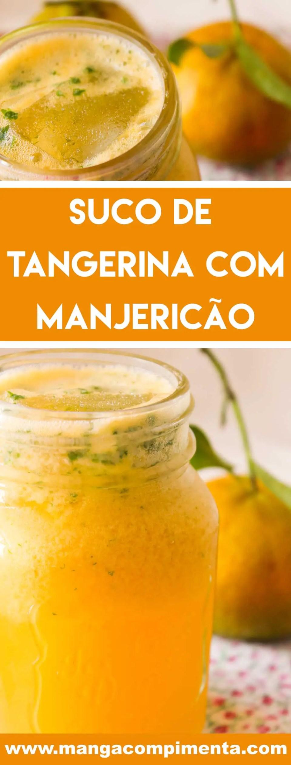 Receita de Suco de Tangerina com Manjericão - uma bebida deliciosa e nutritiva para o dia a dia.