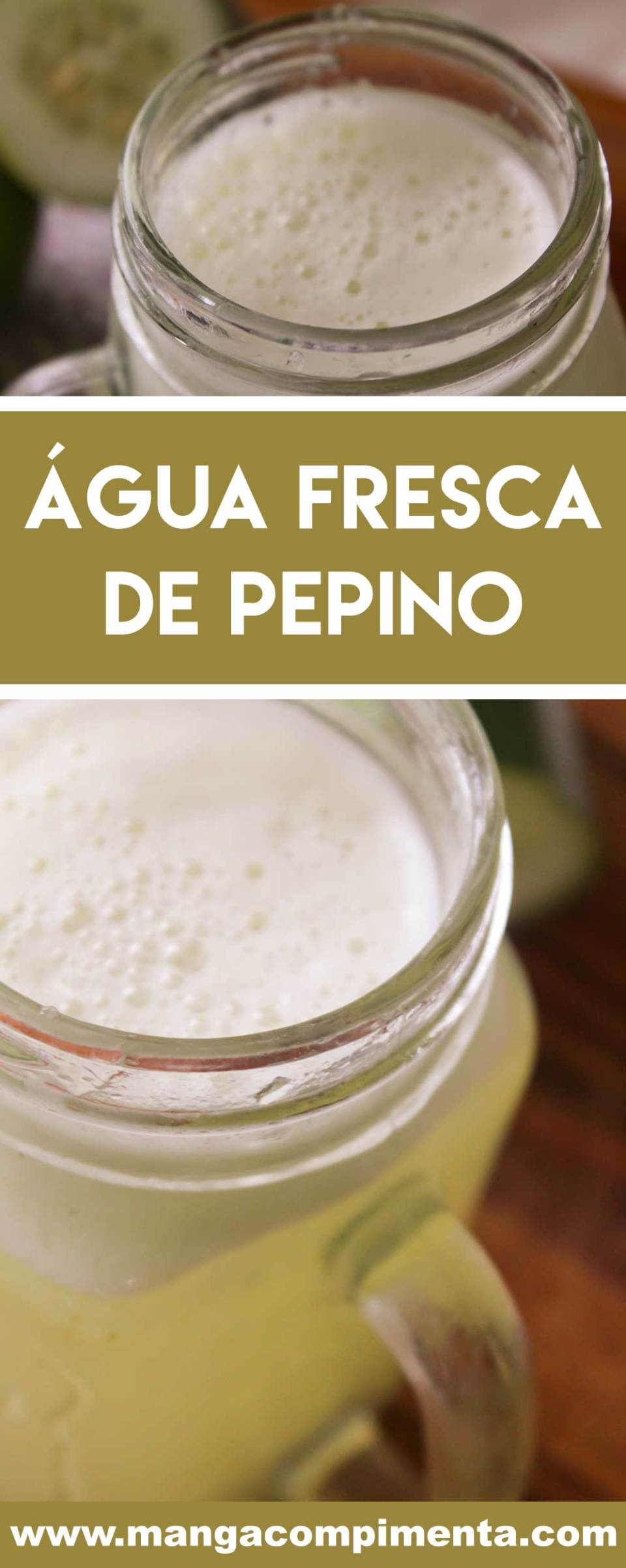 Receita de Água Fresca de Pepino - prepare para refrescar e se hidratar durante a semana!