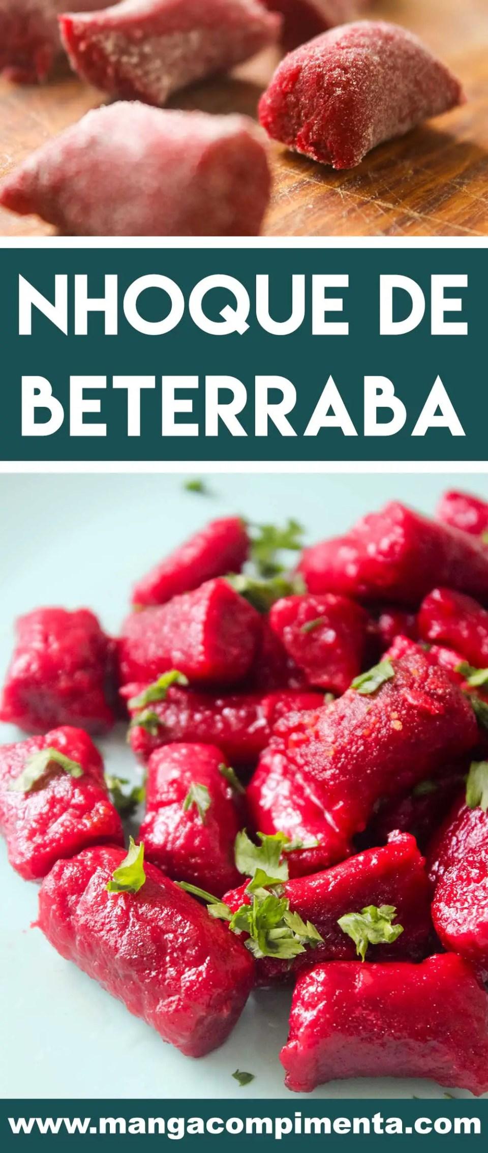 Receita de Nhoque de Beterraba - um prato delicioso para o final de semana em família.